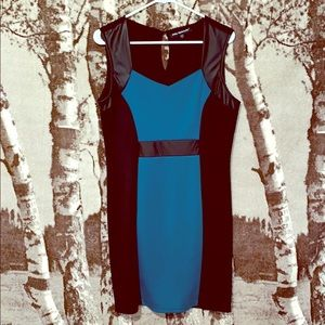 Mlle Gabrielle black and teal dress